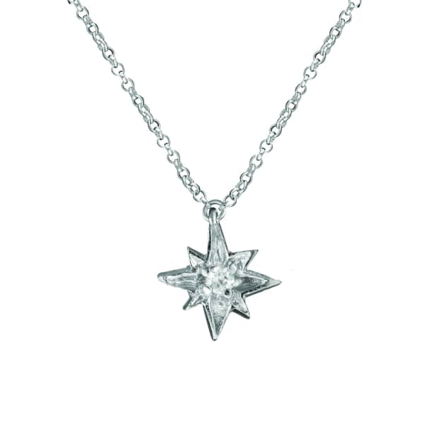 CHUPI I'd Be Lost Without You Necklace in Silver