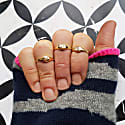 Mini Initial Signet Ring - Solid Gold image