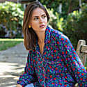 Berry Blue Luxury Silk Pyjama Set image