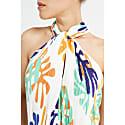 Artemisia White Print Pleated Jumpsuit image