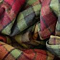 Recycled Wool Blanket In Buchanan Autumn Tartan image