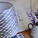 Silver Grey Retro Ikat Lampshade image
