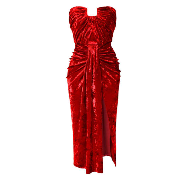 Women's Red Velvet Dresses By Independent Designers
