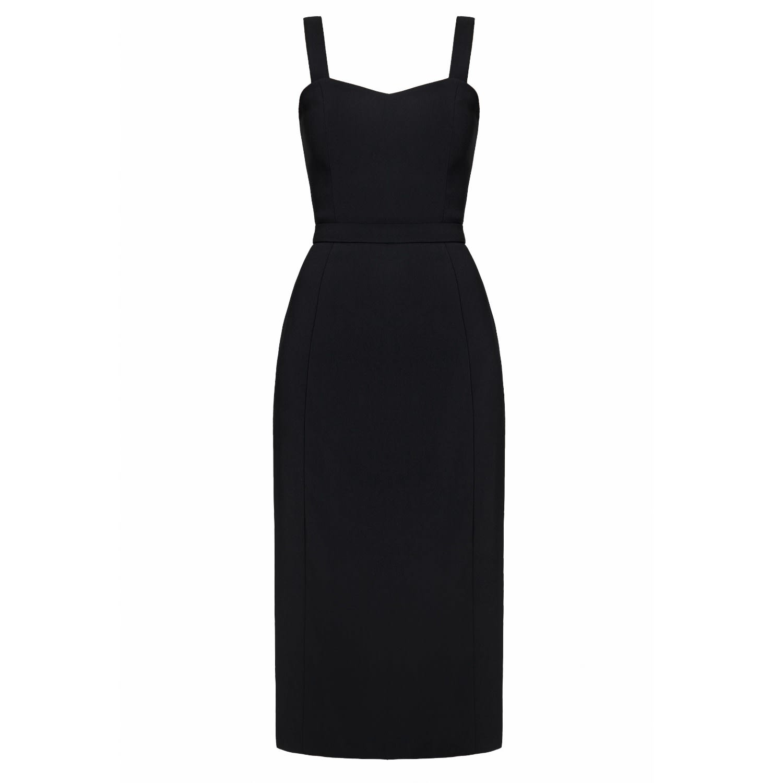 0244c82e49d83 Melif Black Midi Occasion Dress | UNDRESS | Wolf & Badger