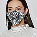 Thasa Mask - Black & White Thai Print image