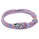 Project-Rwb Red White & Blue Dundee Silver & Rope Bracelet image