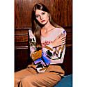 Svetlana Blurred Flower Print V Neck Cone Sleeve Top image