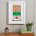 Pie Shop Risograph Print image