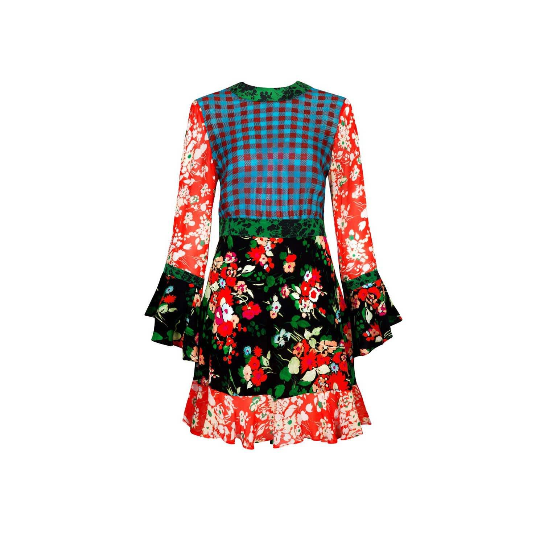 06be922a3174 Rachel Mixed Bunch Floral. Frill Hem Mini Dress | Rixo | Wolf & Badger