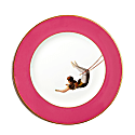 Raspberry Pink Trapeze Girl Dinner Plate image