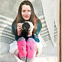 Pink Alpaca Embroidered Socks image