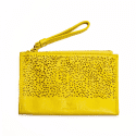 Aurelia yellow leather purse image