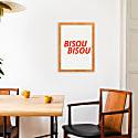 Bisou Bisou Retro A3 Art Print image