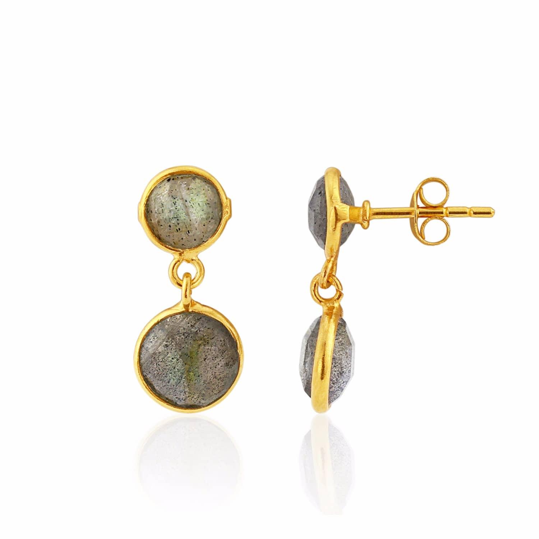 4ecd6c373 Isla Labradorite & Gold Vermeil Drop Earrings   Auree Jewellery ...