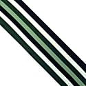 Henley Silk Stripe Neck Scarf Green image