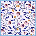 Silk Bandana Of Light Purple Flowers image