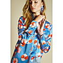 Ace Silk Shirt Blue Leopard image