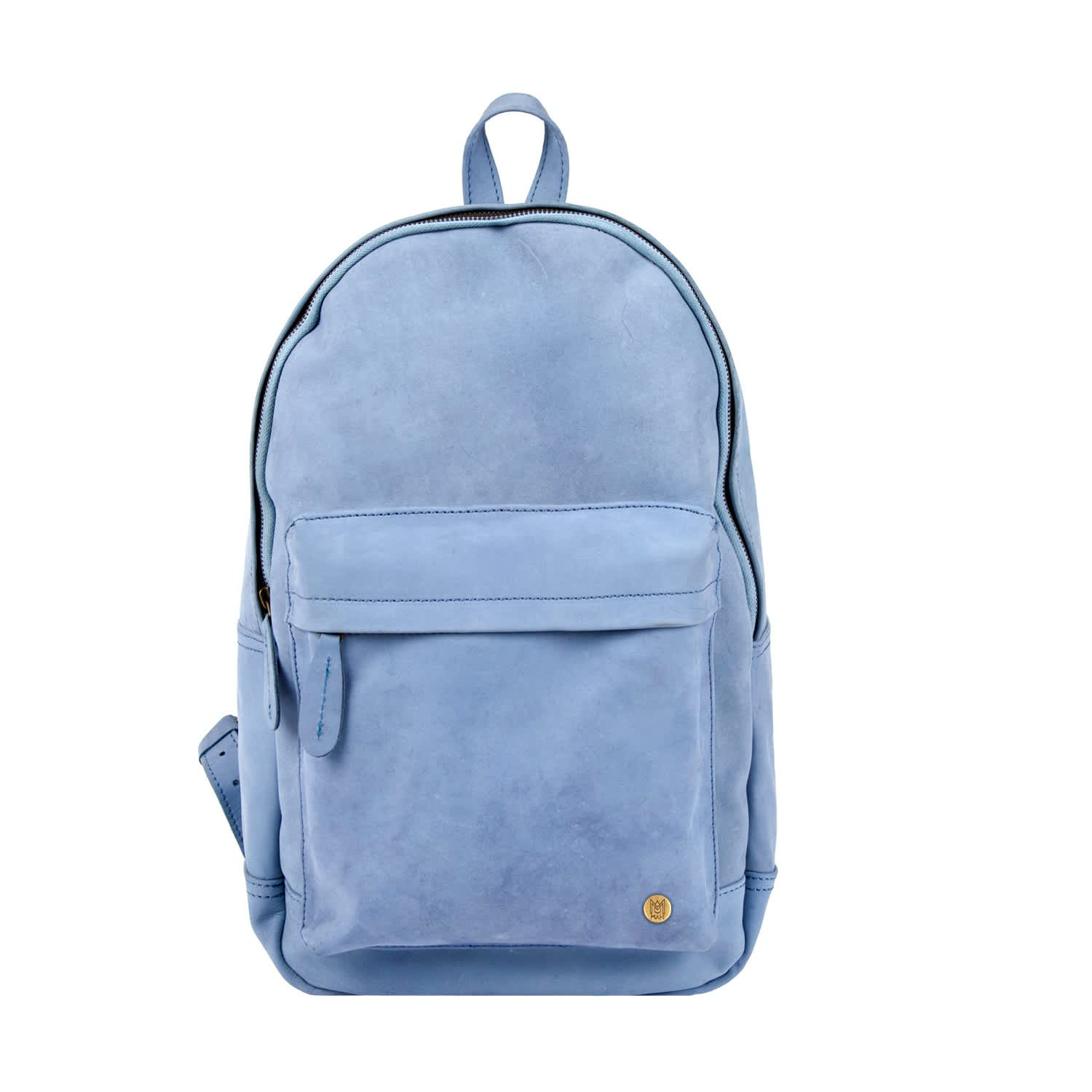 5082c19b7c9 Leather Classic Backpack Rucksack In Pastel Blue by MAHI Leather