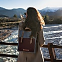 City Backpack /Cross Body Bicolor Red image