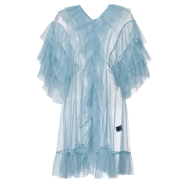 SUPERSWEET X MOUMI Tulle Babydoll In Cloudy Blue