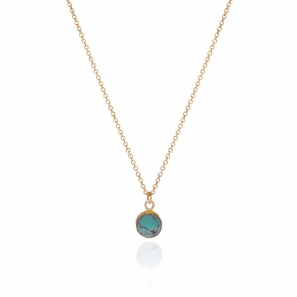 FEATHER+STONE Gold Arizona Turquoise Necklace