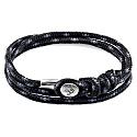 Black Dundee Silver & Rope Bracelet image