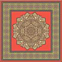 Earth Mandala Square Silk Twill Scarf image