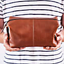 Classic Tan Leather Wash Bag image