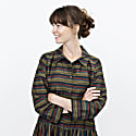 Long Multi-Striped Shirt Dress image