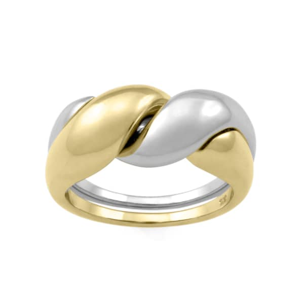 MONARC JEWELLERY The Two-Tone Puzzle Ring 9ct Gold And Sterling Silver