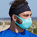 2 pack Washable Face-Mask Bacteria Resistant Aqua Floral image