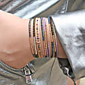 Petite Bracelet In Shiny Olive Beads And 14K Gold Filled Details image