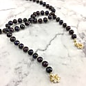 Deep Purple Pearls Open Ended Necklace image