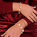 Luna Garnet Gold Chain Bracelet image