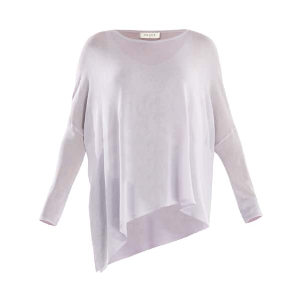 PAISIE Asymmetric Top with Vest in Lilac