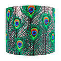 Peacock Feathers Lampshade - Medium image
