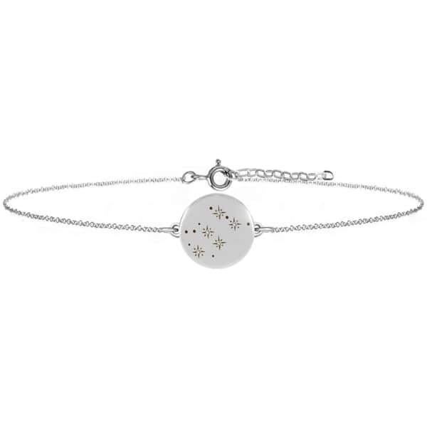 NO 13 Aquarius Zodiac Constellation Bracelet Diamonds & Silver
