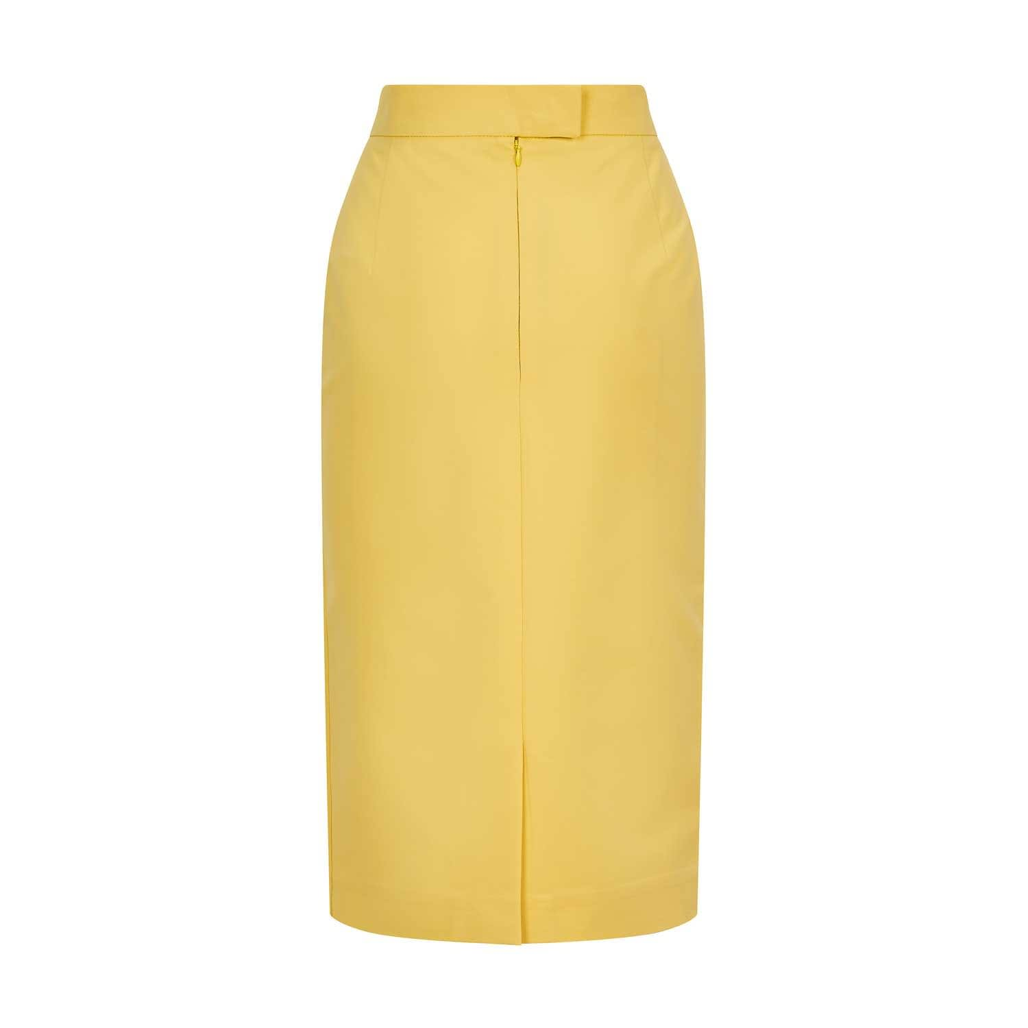 Now Your Compassion Has A Colour Compassion Coloured White Form Fitting Pencil Skirt