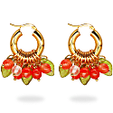 Lingonberry Beret Earrings image