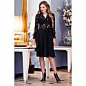 Black Lace Midi Dress image