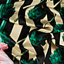 Medium Artichokes Roses & Stripes Silk Scarf image