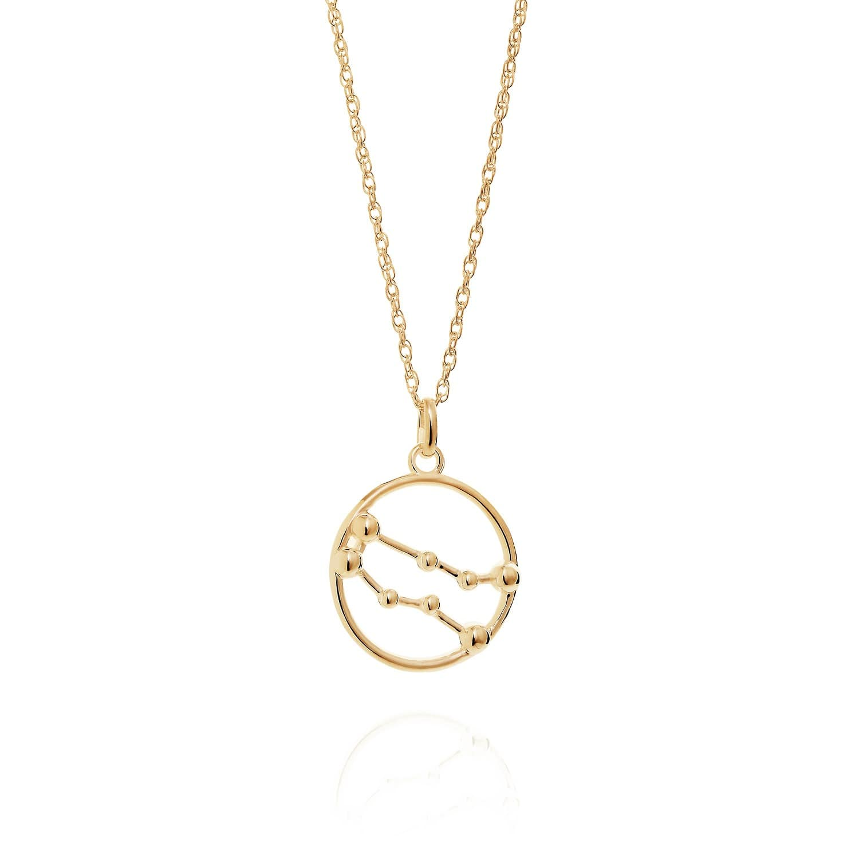 Gemini Astrology Necklace In 9ct Gold Yasmin Everley Jewellery