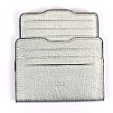 Double Card Holder Silver & Silver image