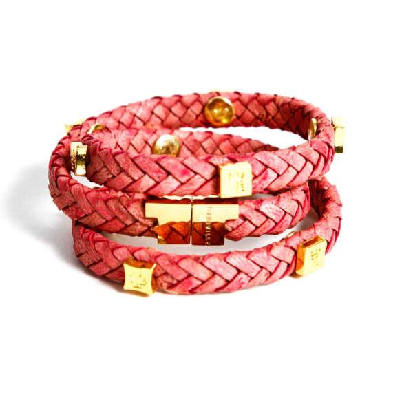 TISSUVILLE Brio Bracelet Raspberry Gold