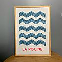 La Piscine A3 Art Print image