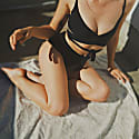 Black Core High Bikini Bottom image