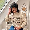 Sustainable Recycled Cotton Raglan Unisex Sweatshirt Supporting Mind UK - Ecru image