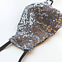 Silver Sequin Face Mask image