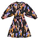 Marta Gloomy Flower Print Dress image