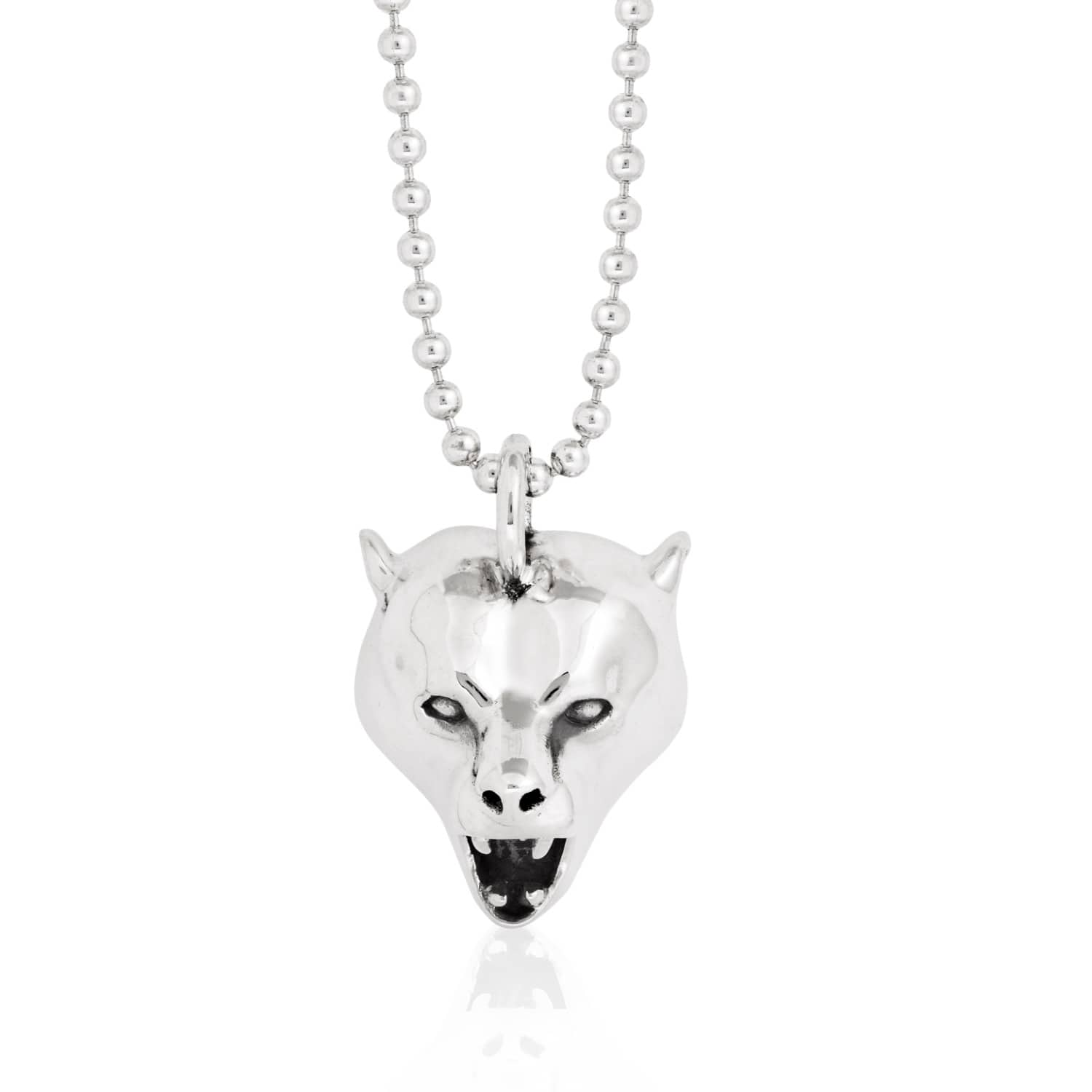 wilson teddy butler bear crystals necklace pendant